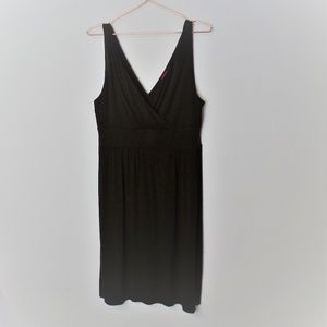 Merona Deep V Brown Sundress (G-10)